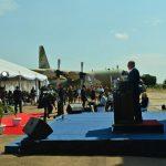 """ביקור ראה""""מ באפריקה ראש הממשלה בנימין נתניהו ורעייתו גב' שרה נתניהו קבלת פנים וטקס בשדה התעופה באנטבה, אוגנדה Photo by Kobi Gideon / GPO"""