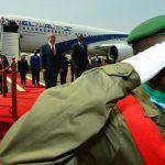 """ביקור ראש הממשלה בקיגאלי, רואנדה ראש הממשלה בנימין נתניהו ורעייתו גב' שרה נתניהו קבלת פנים בשדה התעופה ברואנדה ע""""י נשיא רואנדה פול קגמה ורעייתו ז'נט Photo by Kobi Gideon / GPO *** Local Caption *** Jeannette Kagame Paul Kagame President of Rwanda"""