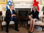 Israel's Prime Minister Benjamin Netanyahu meets Britain's Prime Minister Theresa May at 10 Downing Street, in London, February 6, 2017.   REUTERS/Peter Nicholls  - RTX2ZTZN