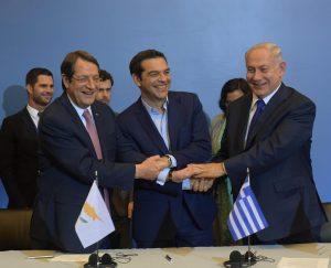 ראש הממשלה בנימין נתניהו בחתימת הסכמים עם ראש ממשלת יוון ונשיא קפריסין ב... (1)