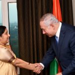 Встреча премьер-министра Нетаниягу с министром иностранных дел Индии Сушмой Сварадж
