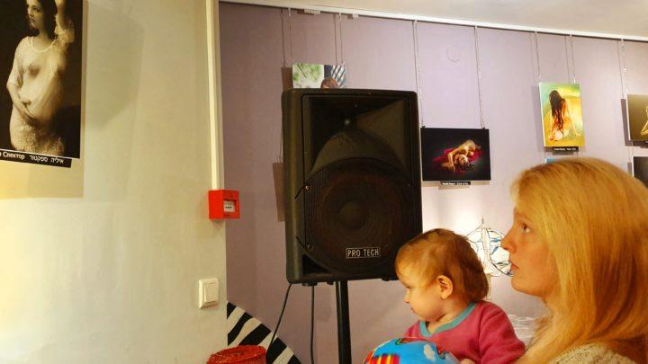 Интервью, обсуждения и музыка на открытии выставки «Обнаженная натура» в  арткафе «Зебра» в Хайфе (видео)